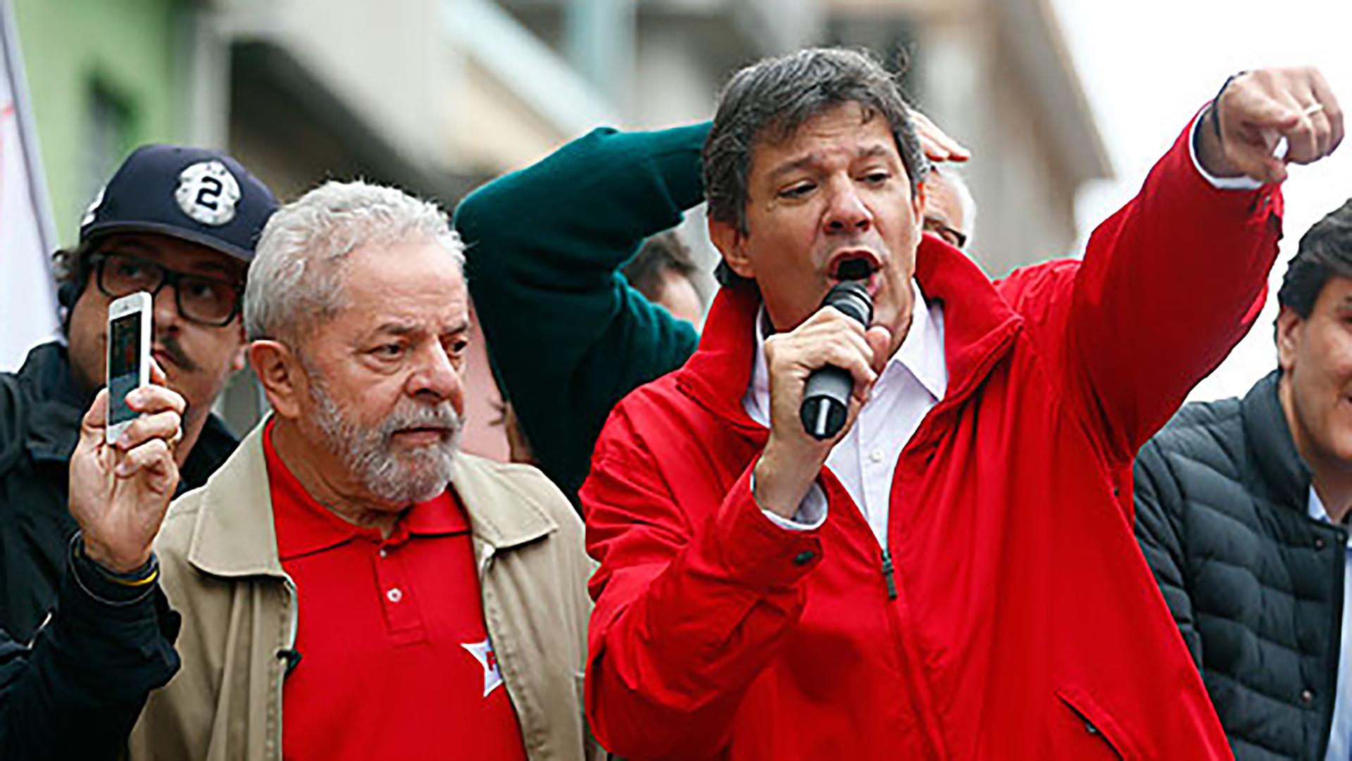 Haddad reemplazó a Lula da Silva en la candidatura del PT