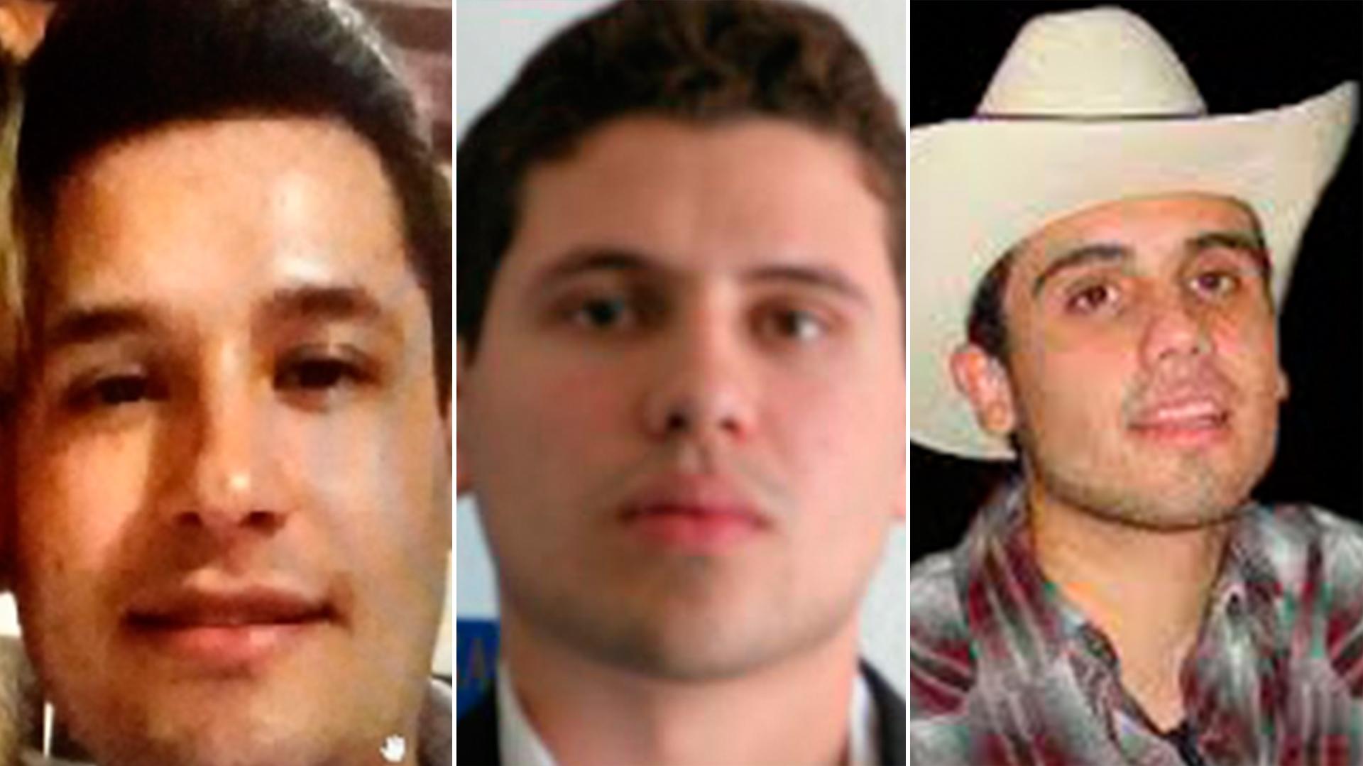 Jesús Alfredo Guzmán, Iván Archivaldo y Ovidio Guzmán, los tres hijos de el Chapo