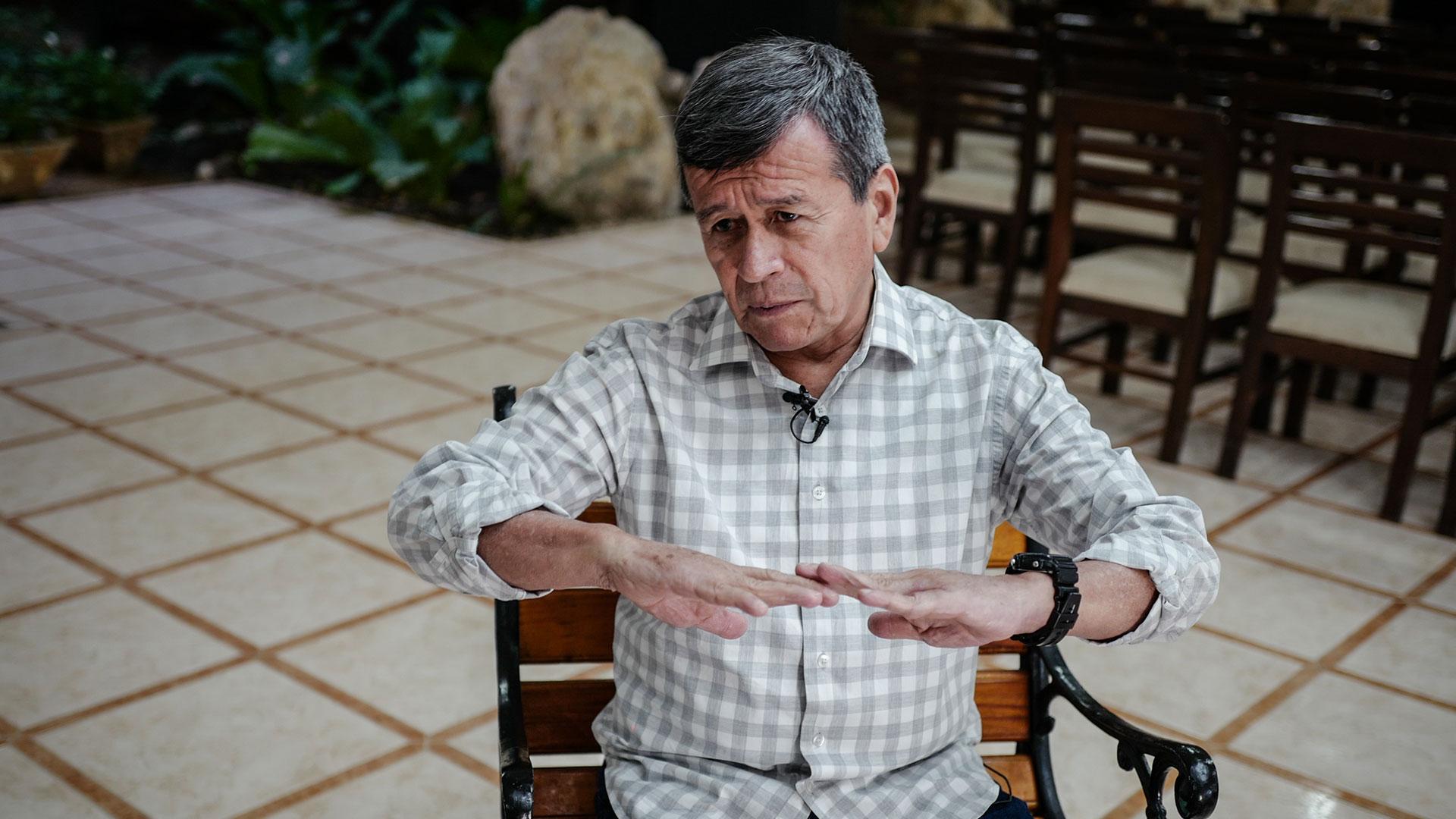 Pablo Beltrán, jefe negociador del ELN en La Habana (AFP)
